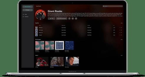 Tidal Desktop Mockup