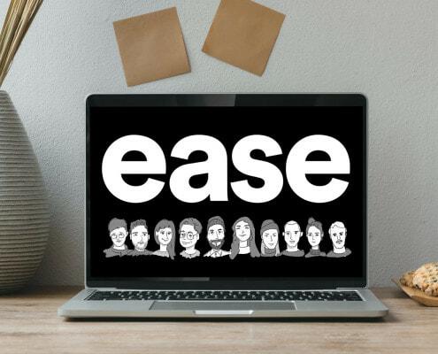 ease Agency auf einem Computerbildschirm